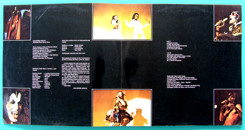 LP OST ROCK HORROR SHOW BRAZILIAN PLAY EDITION GLITTER RODRIX FOLK PSYCH BRAZIL