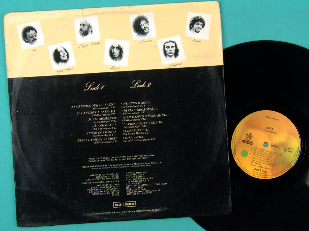 LP SA & GUARABYRA NUNCA 1974 FOLK REGIONAL PSYCH ROCK POP BEAT BRAZIL