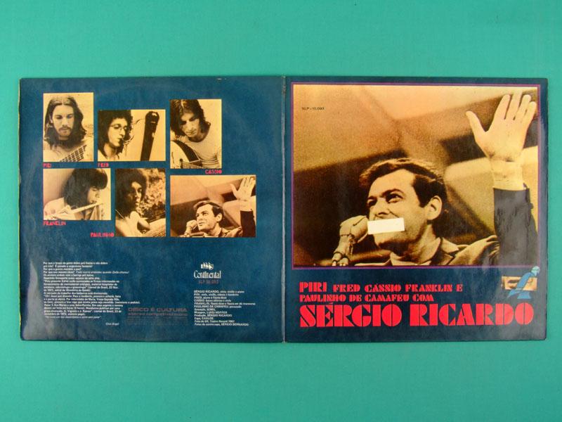 LP SERGIO RICARDO 1973 PIRI PIRY FRED CASSIO FRANKLIN OS LOBOS FOLK REGIONAL BOSSA BRAZIL