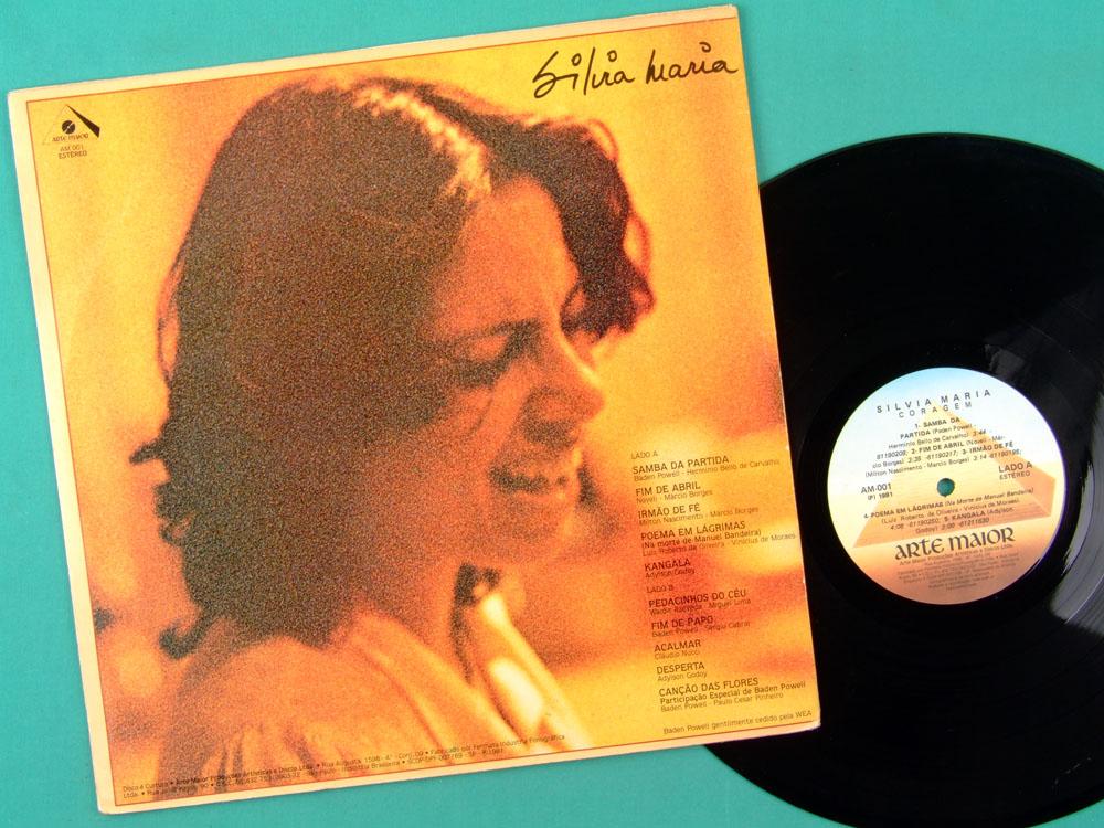 LP SILVIA MARIA CORAGEM 1981 BADEN POWELL FOLK BOSSA BRAZIL