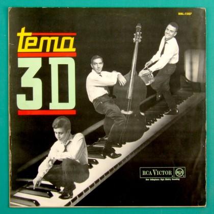 LP TEMA 3D TRIO 1964 ANTONIO ADOLFO DOM UM ROMAO BOSSA NOVA JAZZ SAMBA GROOVE MPB BRAZIL