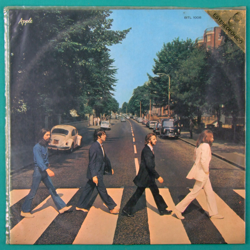 LP THE BEATLES ABBEY ROAD STEREO PSYCH ROCK BEAT PLASTIC BAG BRAZIL