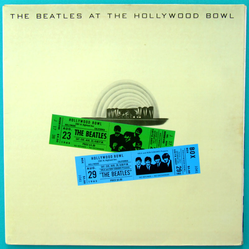 LP THE BEATLES AT THE HOLLYWOOD BOWL 1ST BEAT 1977 BRAZIL