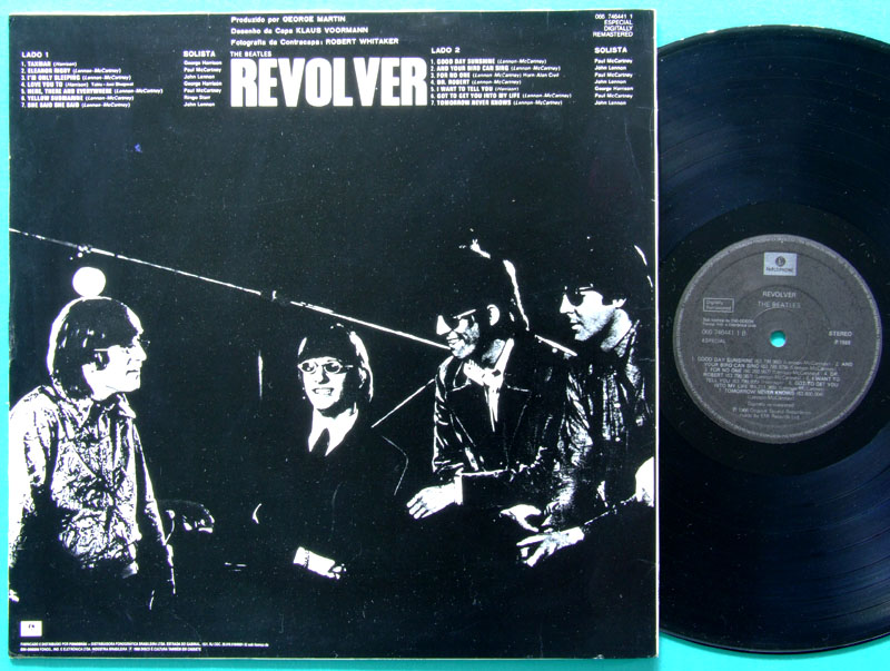 LP THE BEATLES REVOLVER 1966 ROCK BEAT FOLK STEREO 1988 EDITION BRAZIL
