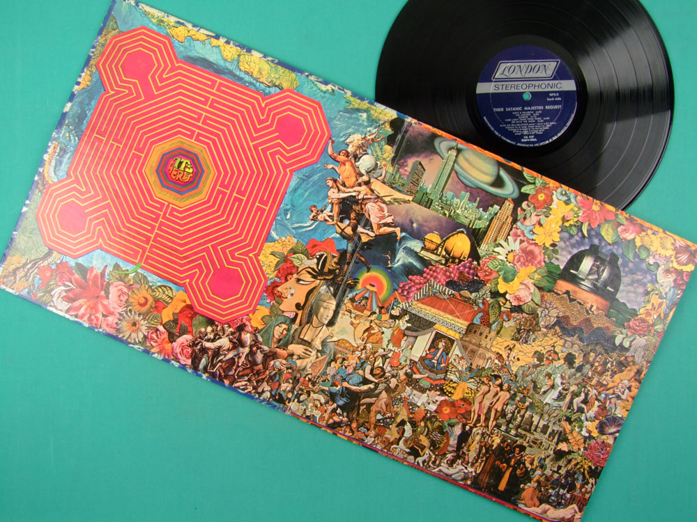 LP THE ROLLING STONES THEIR SATANIC MAJESTIES REQUEST 3D COVER W/ INSERT USA