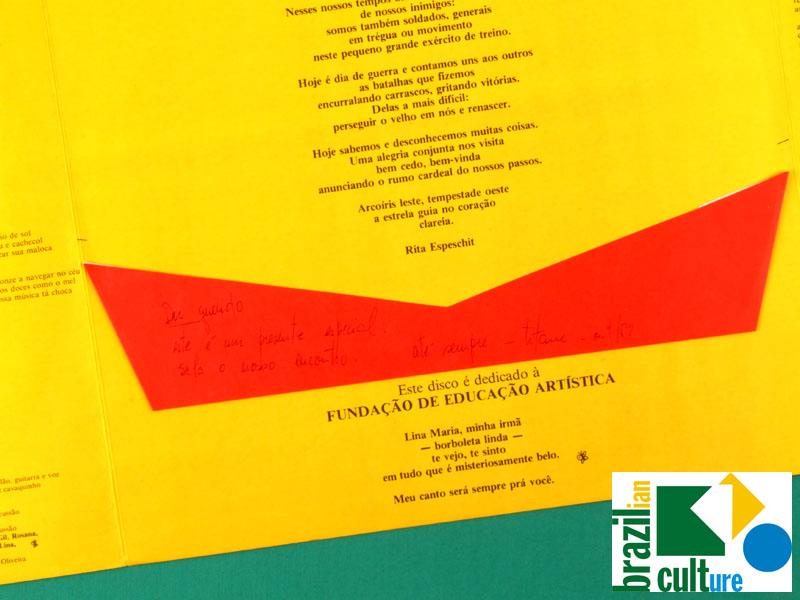 LP TITANE 1986 MINAS REGIONAL FOLK JAZZY SIGNED BRAZIL