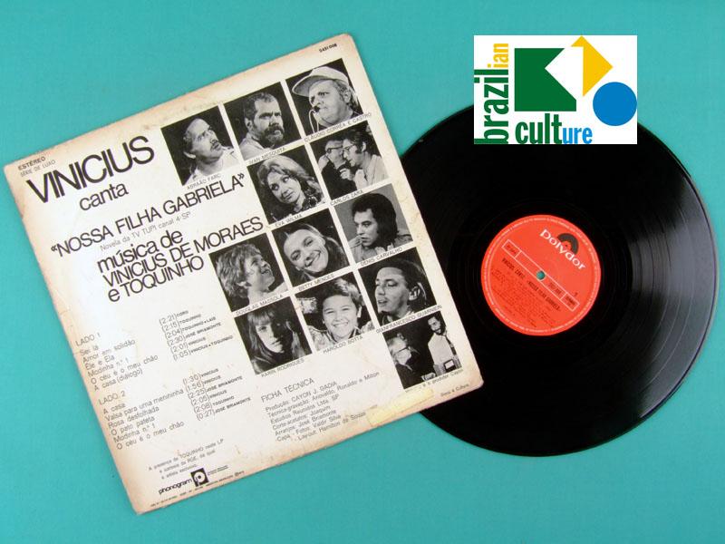 LP VINICIUS DE MORAES CANTA NOSSA FILHA GABRIELA 1972 BRAZIL