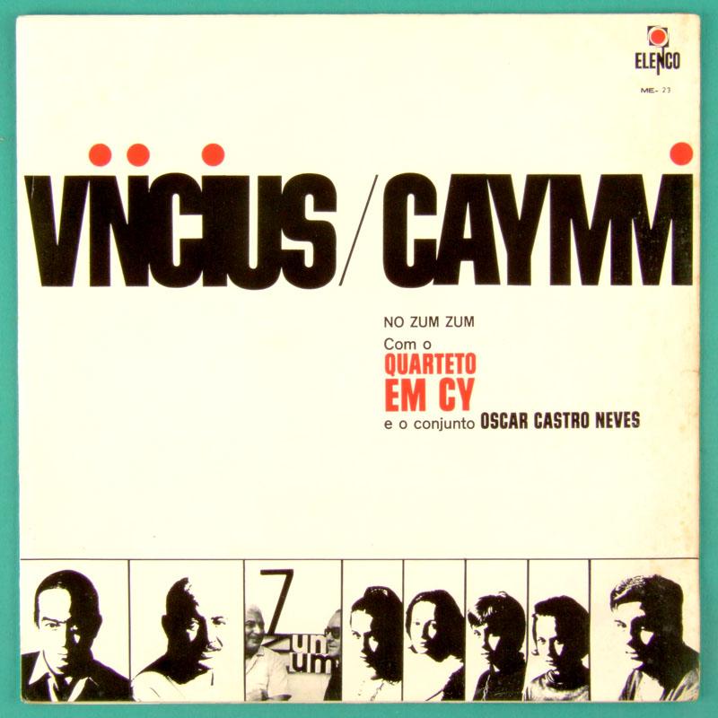 LP VINICIUS DE MORAES CAYMMI QUARTETO EM CY 1965 NO ZUM ZUM 1ST ED BOSSA SAMBA JAZZ BRAZIL