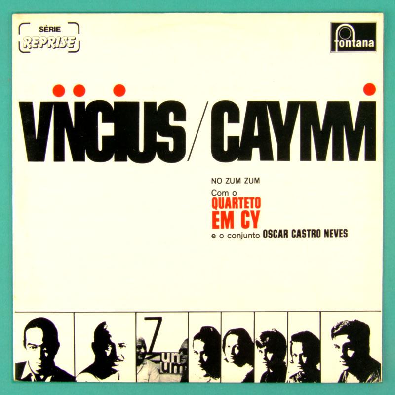LP VINICIUS DE MORAES CAYMMI QUARTETO EM CY 1965 NO ZUM ZUM 2ND ED 1982 BOSSA SAMBA JAZZ BRAZIL