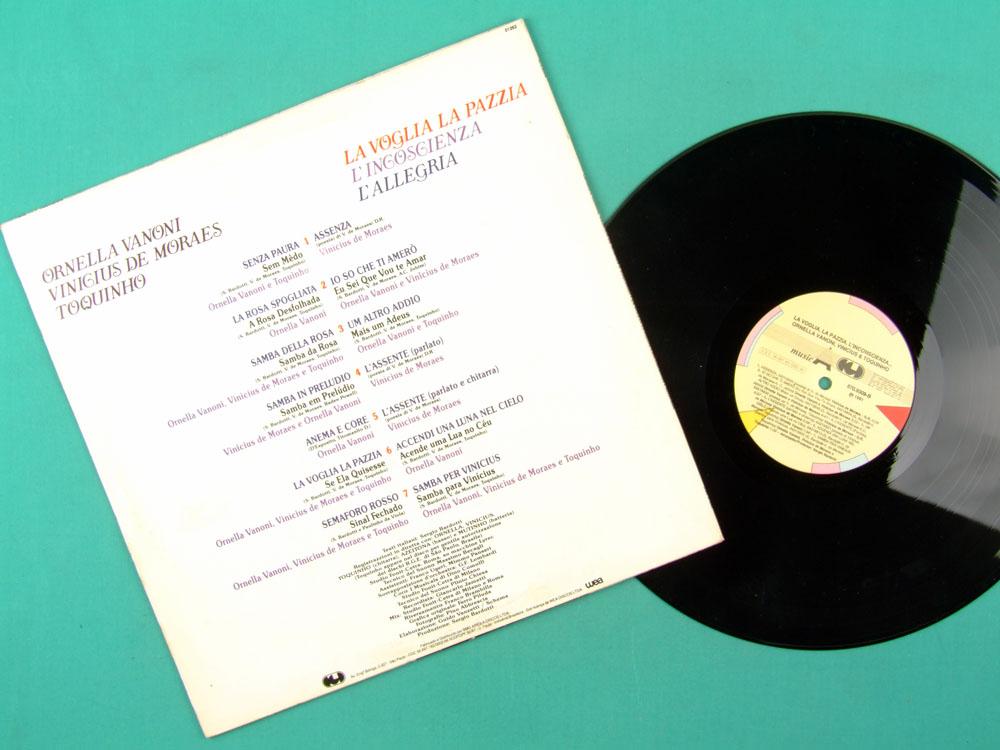 LP ORNELLA VANONI VINICIUS DE MORAES TOQUINHO 1976 2ND ED 1991 BRAZIL