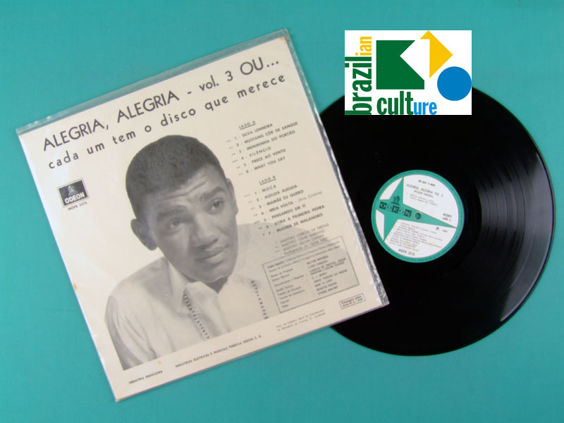 LP WILSON SIMONAL ALEGRIA ALEGRIA VOL 3 1969 BOSSA BRAZIL