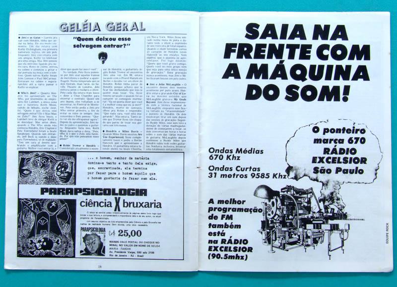 MAG ROCK A HISTORIA E A GLORIA JIMI HENDRIX # 6 GUITAR HERO 70S BRAZILIAN BRAZIL