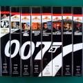 VHS 007 JAMES BOND COLLECTION 8 TAPES 1961-1973 MAKING OF MGM GOLDFINGER BRAZIL