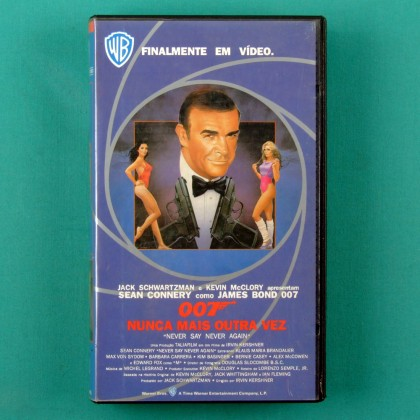 VHS 007 JAMES BOND NEVER SAY NEVER AGAIN NUNCA MAIS OUTRA VEZ 1983 BRAZIL