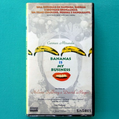 VHS HELENA SOLBERG AND DAVID MEYER CARMEN MIRANDA BANANA IS MY BUSINESS 1994 BRAZIL