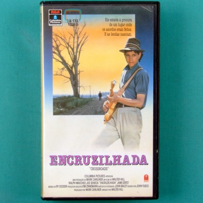 VHS WALTER HILL ENCRUZILHADA CROSSROADS 1986  RY COODER STEVIE VAI RALPH MACCHIO BRAZIL