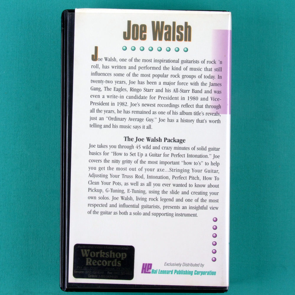 VHS STARLICKS MASTER SESSIONS JOE WALSH EAGLES GUITAR USA