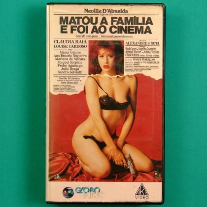 VHS MATOU A FAMILIA E FOI AO CINEMA JULIO BRESSANE 1990 CLAUDIA RAIA SEXY BRAZIL