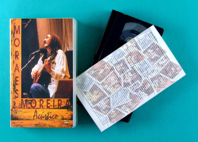 VHS MORAES MOREIRA ACUSTICO 1995 LIVE MPB BOSSA BRAZIL