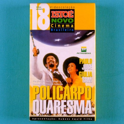 VHS PAULO THIAGO POLICARPO QUARESMA 1998 PAULO JOSE GIULIA GAM COMEDY BRAZIL