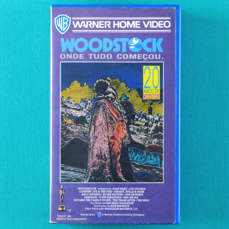 VHS WOODSTOCK 1969 HIPPIE 1989 LIVE MUSIC FESTIVAL HENDRIX FOLK ROCK PSYCH BRAZIL